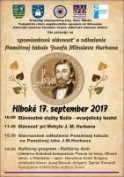 Fara v Hlbokom, Deň otvorených dverí pri príležitosti spomienkovej slávnosti a odhalení pamätnej tabule Jozefa Miloslava Hurbana